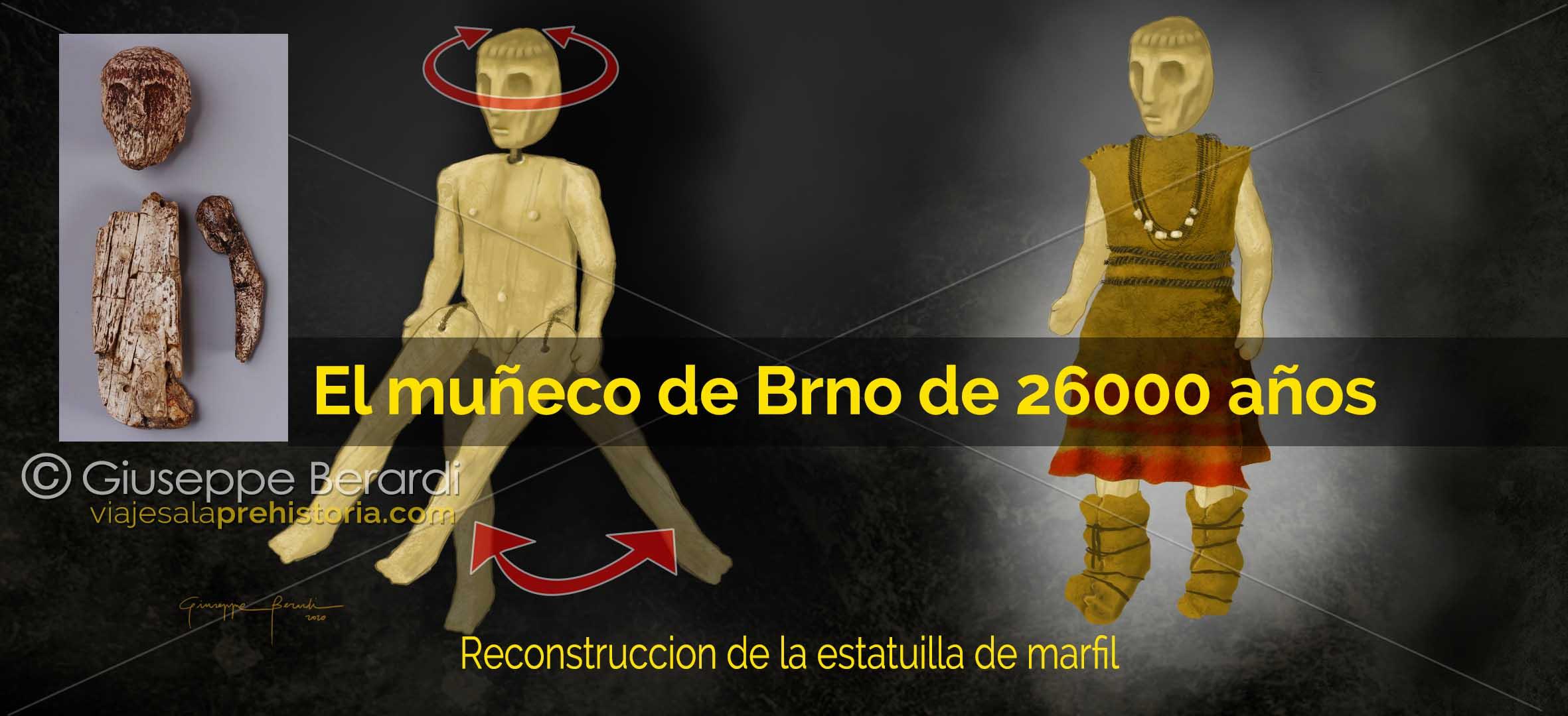 Muñeco de marfil prehistórico